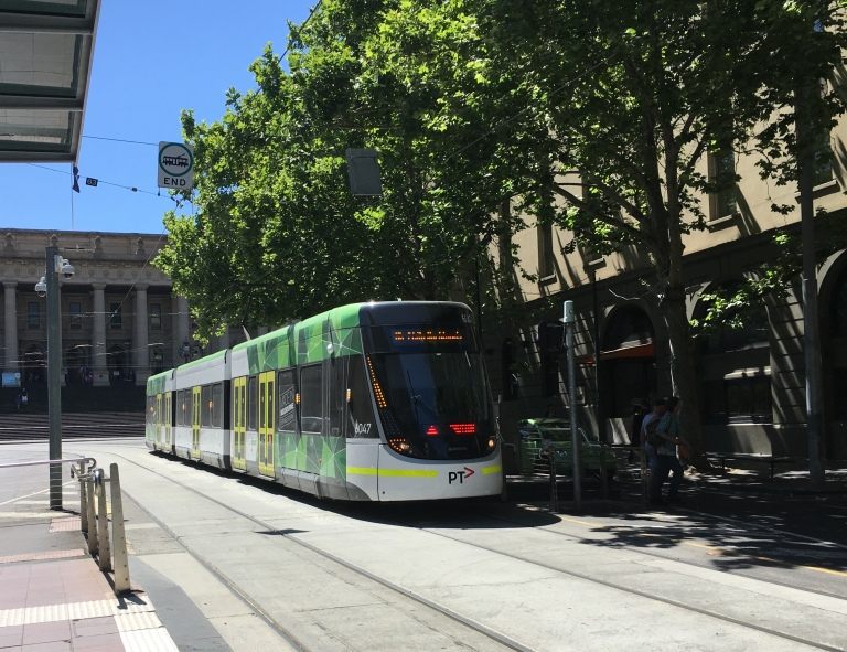 Cathy Travelling Melbourne City Tram