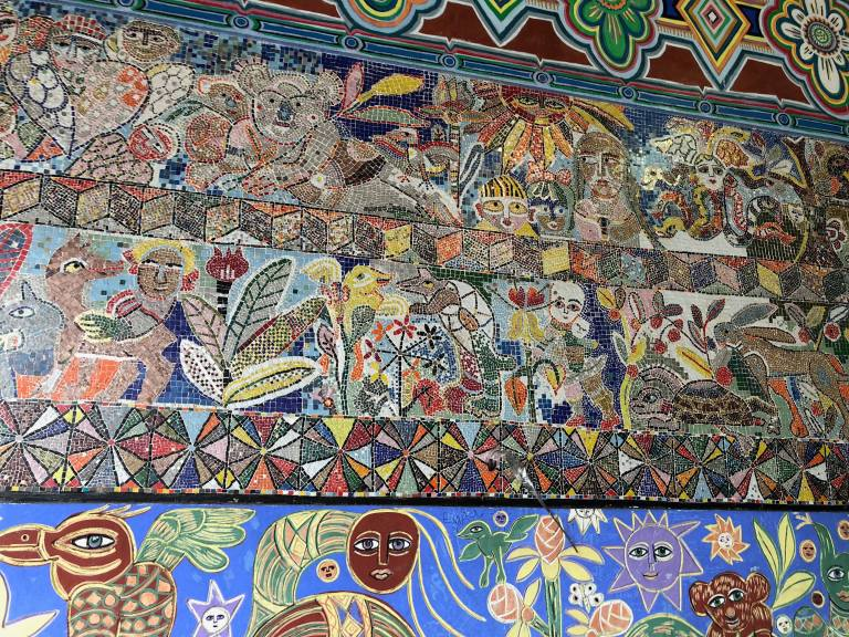 Cathy Travelling Mosaics Flinders St Station Melbourne