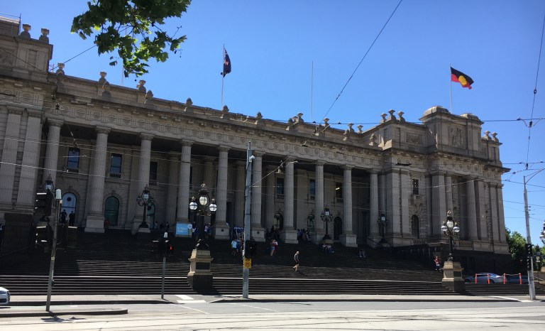 Cathy Travelling Parliament House Melbourne (1)