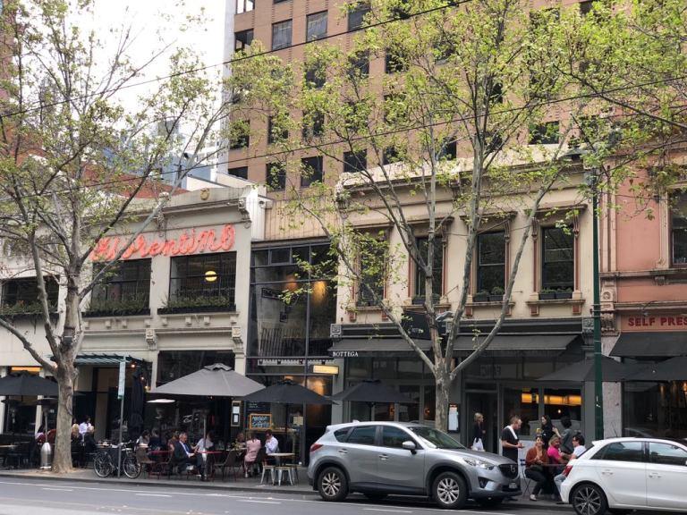 Cathy Travelling Restuarants in Bourke St Melbourne