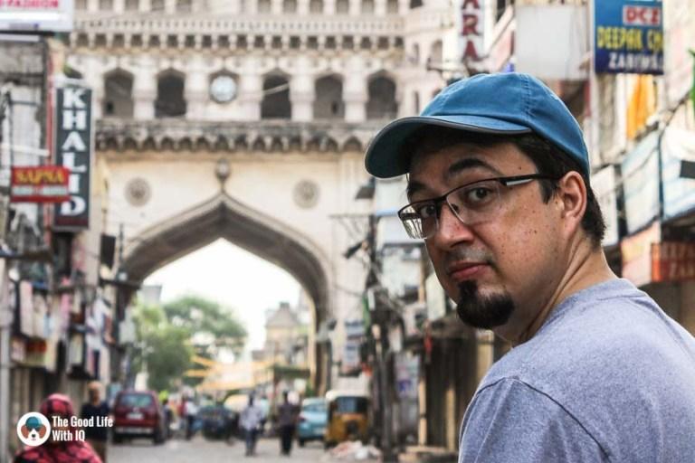 Hyderabad - Charminar and I.JPG