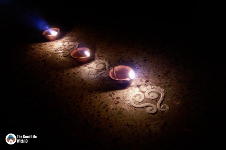 Hyderabad - Diwali oil lamps